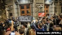 Protest podrške Vranjskim u Beogradu, ilustrativna fotografija