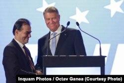 Klaus Iohannis și liderul PNL Ludovic Orban