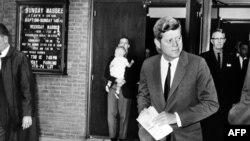 ABŞ -- Prezident John Fitzgerald Kennedi 28 oktyabr 1962