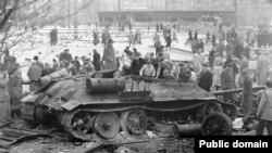 Венгерское восстание в 1956 году.