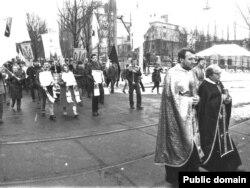 Перепоховання Василя Стуса, Юрія Литвина та Олекси Тихого. Київ, 1989 рік