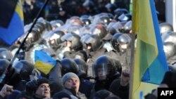 Во время акций протеста в Киеве
