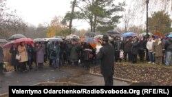 Молитва біля меморіального каменю в урочищі Сосонки