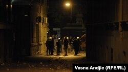 Подразделение полиции в Белграде в воскресенье вечером
