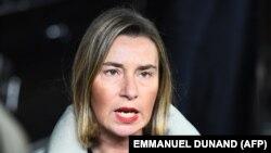 Federica Mogherini , coorodnatoarea politicii externe europene, ianuarie 2018