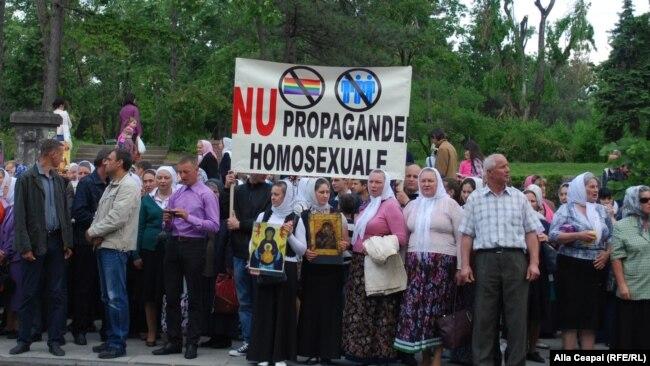Марш противников ЛГБТ в Кишиневе