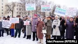 """Митинг """"аварийщиков"""" Зеленодольска"""