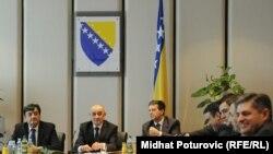 Novi saziv Vijeća ministara BiH na radnom sastanku nakon izbora, 10. februar 2012.