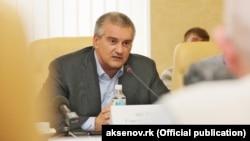 Подконтрольный России глава Крыма Сергей Аксенов