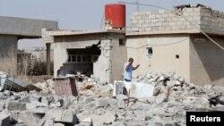 Зруйновані будинки на околиці Мосула, 19 жовтня 2016 року