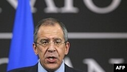 Russian Foreign Minister Sergei Lavrov at NATO headquarters in Brussels (file photo)