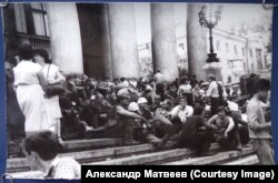 Забастовка в Прокопьевске. Из архива А. Матвеева