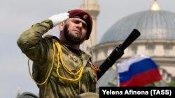 Военный парад, посвященный 74-й годовщине Победы. Грозный