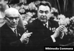 Леонид Брежнев и Вацлав Гомулка. 1967 год
