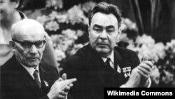 Vladislav Gomulka și Leonid Brejnev