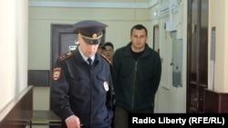 Олег Сенцов у Лефортовському суді Москви, 8 квітня 2015 року