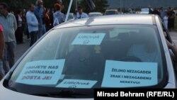 Detalj sa protesta u Mostaru