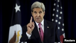 U.S. Secretary of State John Kerry delivers a speech on the nuclear agreement with Iran in Philadelphia, Pennsylvania, on September 2.