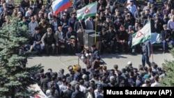 Митинг в Магасе, 8 октября 2018 г.