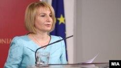 Прес-конференција на вицепремиерката за евроинтеграции Теута Арифи.