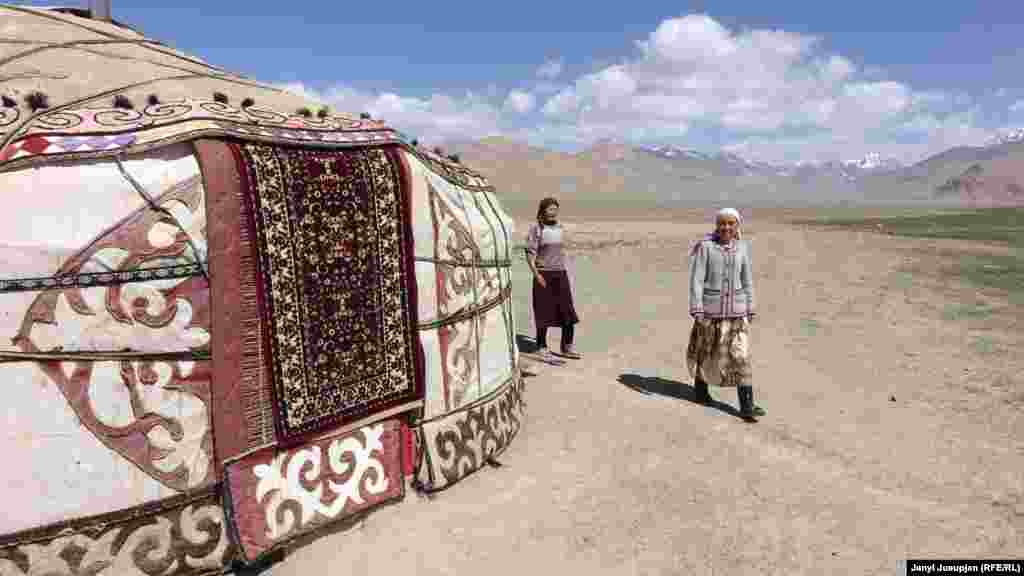 Several women in the village clubbed together and opened a yurt as a guest house. The yurt is beautifully decorated with traditional Kyrgyz carpets and other handwork made by local women.