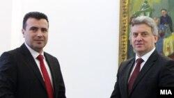 Архивска фотографија-премиерот Зоран Заев и претседателот Ѓорге Иванов