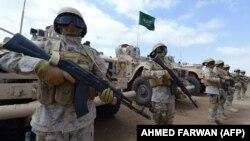 نیروهای سعودی در شهر عدن در جنوب یمن