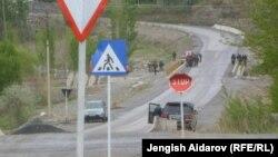 Баткен облусу. Кыргыз-тажик чек арасы. Иллюстрациялык сүрөт.