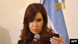 Presidentja e Argjentinës, Cristina Fernandez de Kirchner.