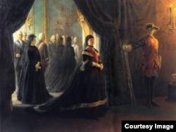 Николай Ге. Екатерина II у гроба императрицы Елизаветы. 1874
