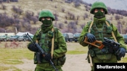 """Little green men"" in Crimea."
