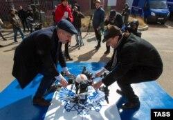 """Улан-Удэ, подготовка к запуску дрона """"Почты России"""""""