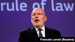 European Commission First Vice President Frans Timmermans sent a warning letter to Romania's government on May 10.
