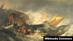 Уільям Тэрнэр, «Крушэньне транспартнага судна» (1810)