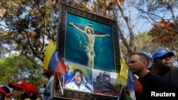 Очередь к гробу Уго Чавеса