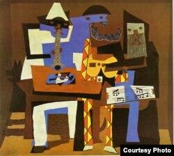"""Picassonun """"Üç musiqiçi"""" rəsmi"""