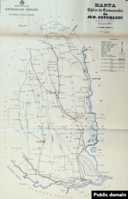 Județul Covurlui: căile de comunicație la 1897