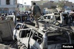 Sanaa aeroportu hava zərbələrindən sonra, 25 mart