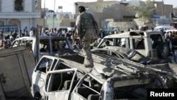 Йемен. Сана. 26-март, 2015-жыл.