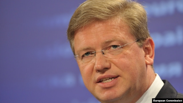 EU Commissioner for Enlargement and Neighborhood Policy Stefan Fuele (file photo)