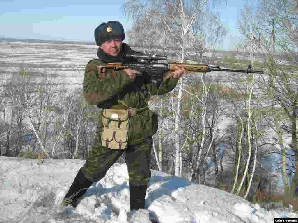 A Kazakh soldier