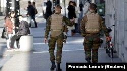Військові патрулі в центрі Брюсселя, 31 грудня 2015 року