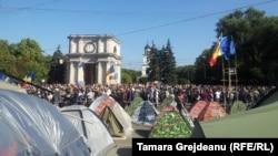 Антиурядовий протест у Кишиневі, 4 жовтня 2015