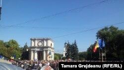 Антиурядовий протест у Кишиневі, 4 жовтня 2015 року