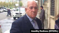 Azerbaijan -- former football player Mashallah Ahmedov and his lawyer Gunay Hajiyeva - 13Oct2016