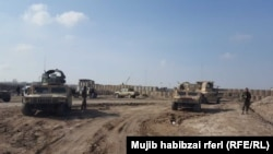 FILE: An Afghan National Army camp in the northern province of Balkh.