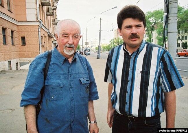 Рыгор Барадулін і Міхась Скобла, архіўнае фота