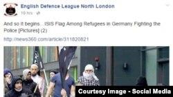 """Беженцы"" с флагами ИГИЛ"
