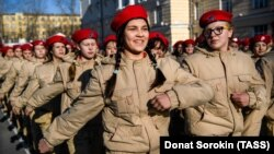 """Шествие участников патриотического движения """"Юнармия"""""""
