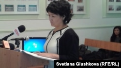 Роза Акбарова, главный эксперт Центрального института судебной экспертизы. Астана, 4 октября 2012 года.